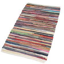 tapis de cuisine pas cher elitehomecollection homescapes tapis chindi en coton recyclé fait