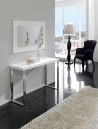 Table Console Extensible Alinea by Indogate Com Salle A Manger Blanc Laque Pas Cher