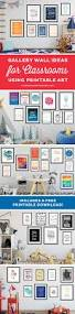 classroom gallery wall ideas a free printable elegance