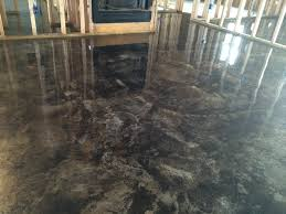 Basement Floor Stain by That Can U0027t Be Concrete Inc Basement Flooring Options Acid
