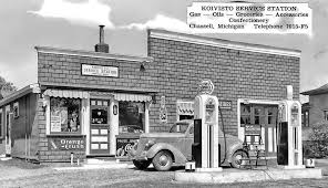 vintage gasoline stations and repair garages the old motor