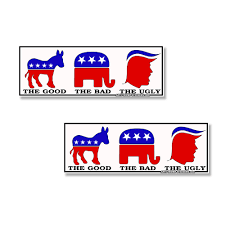 Good Bad Ugly Anti Trump Sticker The Good The Bad The Ugly 2 Pack Of Bumper