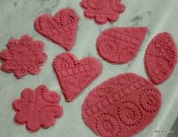 swoon worthy lacy pink play dough ornaments