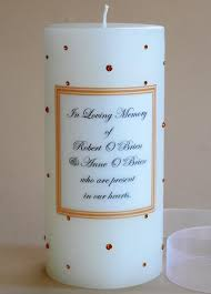 memorial candle swarovski 3 x 6 personalized memorial candle my forever