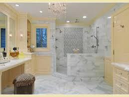Open Showers Bathroom Light Yellow Trim Bathrooms Chandelier Walk In Shower