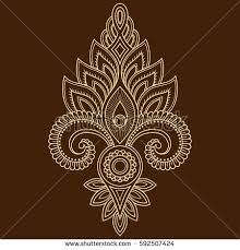royalty free henna tattoo flower template in indian u2026 443739436