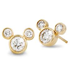 small earrings diamond mickey mouse 14k earrings small shopdisney