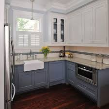 slate blue painted kitchen cabinets slate blue lower kitchen cabinets design ideas pictures
