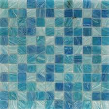 French Blue And White Ceramic Tile Backsplash Blue Glass And Mosaic Tiles Tilebar Com