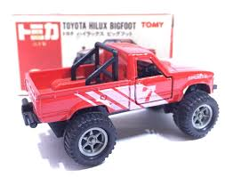 jeep cars red made in japan tomy tomica no 61 toyota hilux bigfoot 1 58 diecast