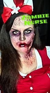 zombie nurse halloween makeup tutorial youtube