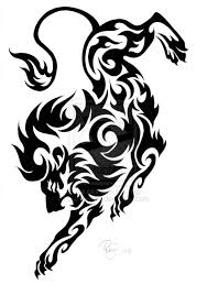tribal lion head tattoo stencil photos pictures and sketches