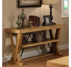 Wooden Vases Uk Rustic Wooden Console Table With A Bottom Shelf And Decorated With