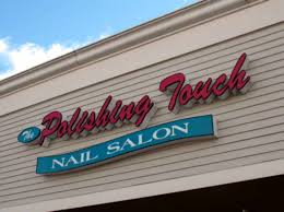 exterior signage nail salon sign
