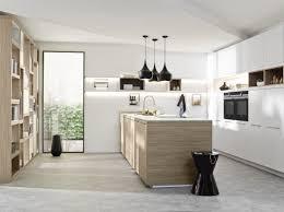 cuisine effet bois cuisine allemande effet bois clair et blanc mat lack blanc et