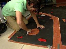 How To Scribe Laminate Flooring How To Install Natural Linoleum Flooring Hgtv