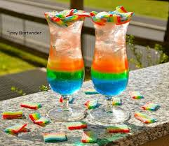rainbow cocktail the haribo miami frizz cocktail tipsybartender com miami