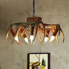 Deer Antler Light Fixtures 5 Cast Deer Antler Chandelier Inverted Hanging Ceiling Lights