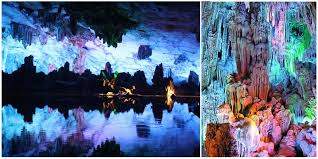 reed flute cave the colorful reed flute cave in china is a fascinating gallery of