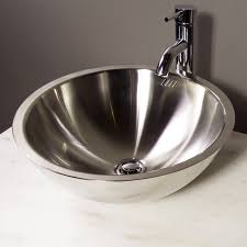 cantrio koncepts ms 001 vessel sink stainless steel at atg stores