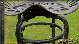 siege de style tabouret siège de tracteur en métal et fonte de style rétro