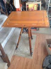 Antique Wooden Drafting Table Antique Drafting Table Ebay