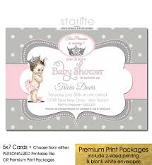 baby girl baby shower invitations pink grey baby shower invitation polka dots vintage girl princess