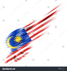 Malaysai Flag Malaysia Flag On Abstract Wing White Stock Illustration 91017539