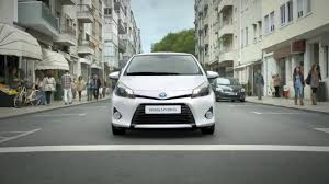 toyota compact toyota yaris hybrid silence the city commercial ads list of 3