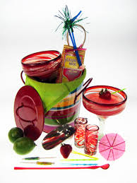 margarita gift set margarita gift basket swirl with glasses