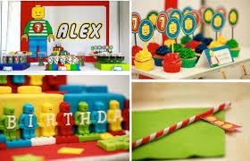 Boy Birthday Decorations Kara U0027s Party Ideas Lego Blocks Boy 7th Birthday Party Planning Ideas