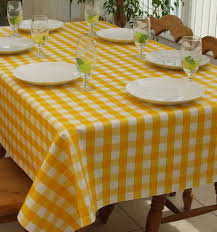 home decor theory cute rectangle wipe clean tablecloth yellow