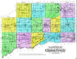 Il County Map Clinton County 1892 Outline Plat Map Illinois