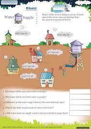 water supply math worksheet for grade 5 free u0026 printable worksheets
