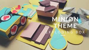 minion theme pop up exploding box easy birthday card handmade