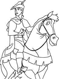 prince phillip and samson horse going coloring page wecoloringpage