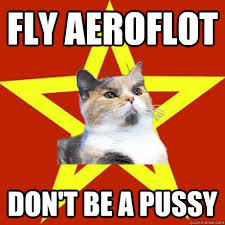 Flying Cat Meme - fly aeroflot don t be a pussy cat meme cat planet cat planet