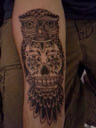 owl skull tattoodenenasvalencia