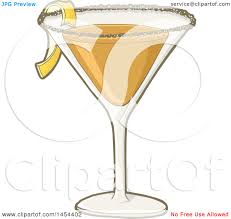 Clipart Graphic Of A Sidecar Cocktail Drink Royalty Free Vector