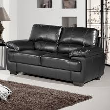Chelsea Black Leather Sofa Collection - Chelsea leather sofa