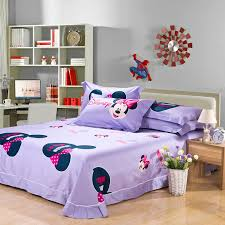 Minnie Mouse Bed Frame I Miss You Fashion Minnie Mouse Red And Purple Kids Bedding Sets