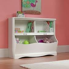 kids bedroom bookshelf white bookcase toy box cubby storage wood