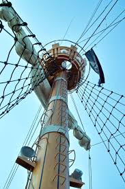 mast pirate ship pirate flag low angle view industry free