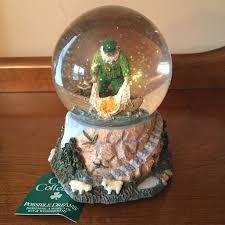 fisherman santa musical snow globe possible dreams s