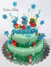 76 best smurfs cakes images on pinterest character cakes