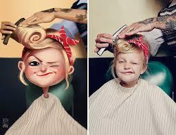 artist turns photos of random people into fun illustrations you