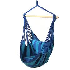 sunnydaze hanging hammock swing with two cushions oasis 34