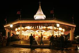 carousel or merry go in motion blur editorial photo image