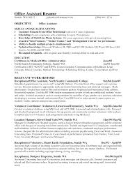 Medical Resume Objective Front Office Assistant Resume Objective Bongdaao Com