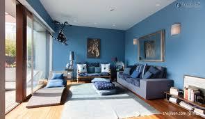 transitional living room living room blue walls living room